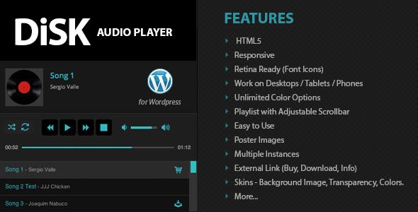Disk Audio Player WordPress Plugin