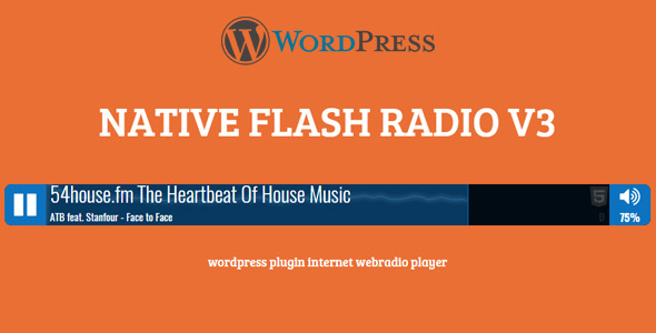 Native HTML5 Radio Player WP Plugin