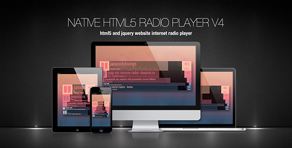 Native HTML5 Radio Player ShoutCast